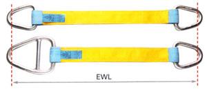 zdvíhacie popruhy s kovovými okami Image